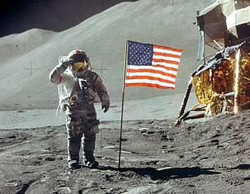 apollo11 on the moon